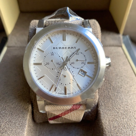 Burberry Other - NEW BURBERRY WATCH MEN'S BU9357 SILVER